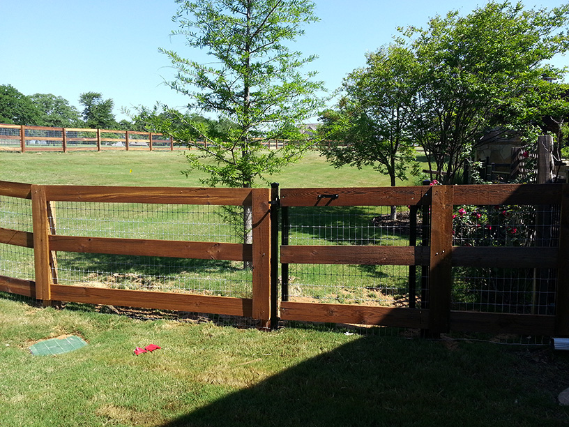 New Wood and Wire Fencing