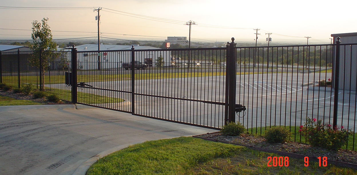 Iron Fence and Automatic Iron Gate - Denton, Texas