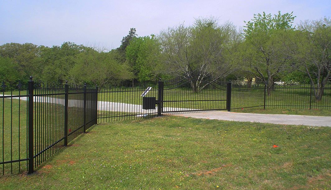 Iron Fence and Automatic Iron Gate