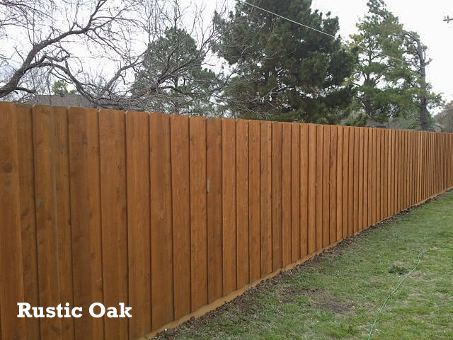 Professional Fence Staining - Rustic Oak