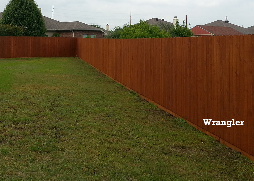 Professional Fence Staining - Wrangler Color