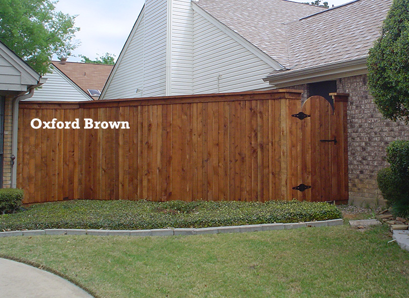 Professional Fence Staining - Oxford Brown