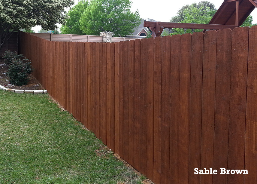 Professional Fence Staining - Denton, Texas