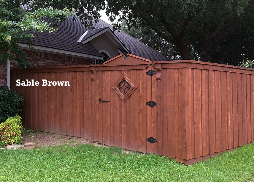 Professional Fence Staining - Sable Brown