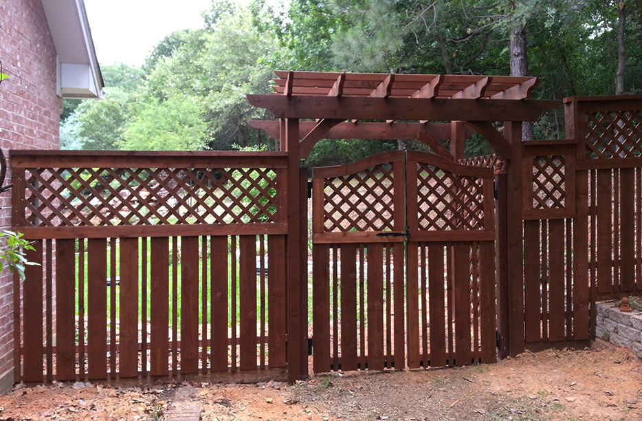 Decorative Wood Fencing