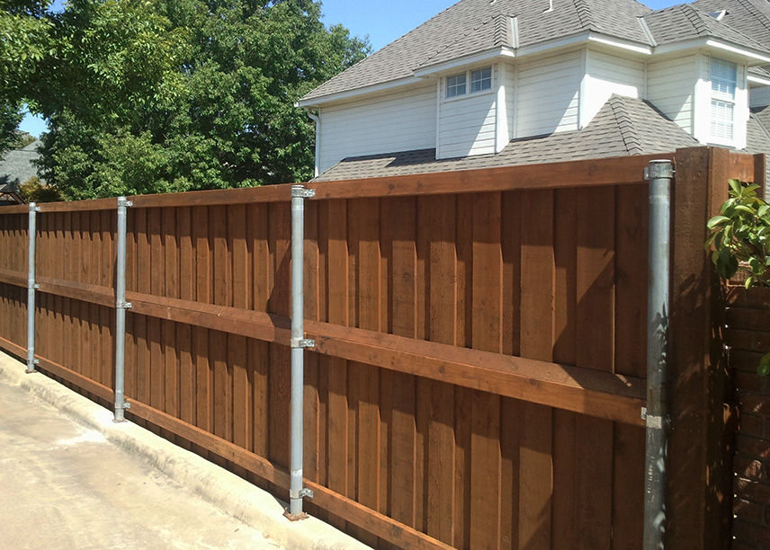 Cedar Board on Board - Fence Construction