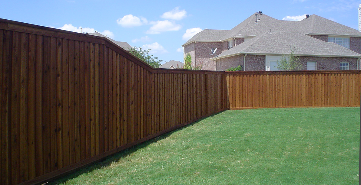 Custom Cedar Fence - Board on Board Design